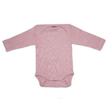 Cosilana Romper wol zijde katoen zacht roze lange mouw