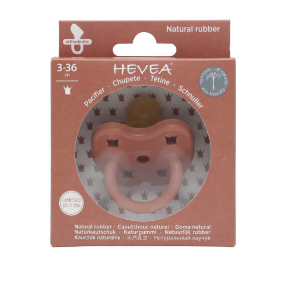 Hevea Fopspeen ruby red dental
