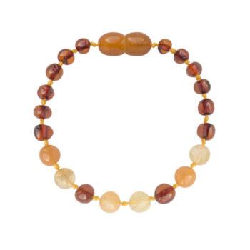 Amberos Barnsteen armband baby/peuter quartz, aventurijn