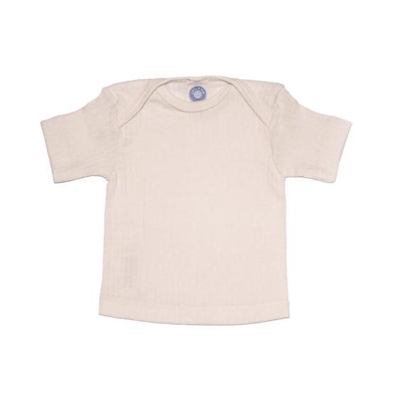 Cosilana Shirt korte mouwen wol/zijde/katoen natuur