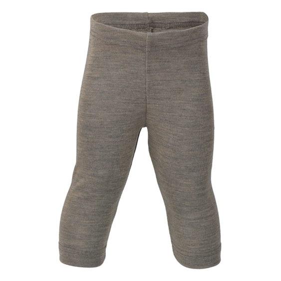 Legging wol/zijde walnoot
