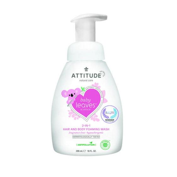 ATTITUDE Baby Leaves 2in1 Shampoo & Body wash - parfumvrij