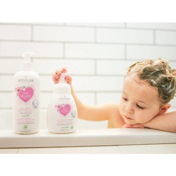 ATTITUDE Baby Leaves 2in1 Shampoo & Body wash - parfumvrij