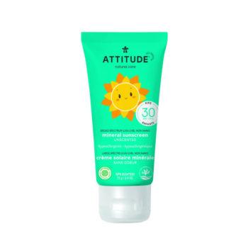 ATTITUDE Baby zonnebrandcreme SPF30 - parfumvrij - 100% plantaardig & mineraal