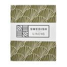 Swedish Linens Hoeslaken Seashells Terracotta pink Olijf