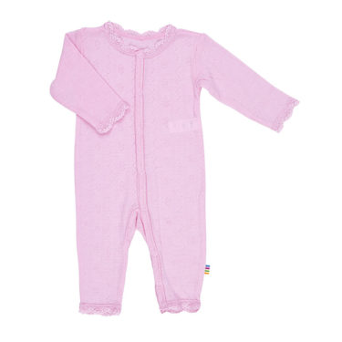 Joha Boxpakje jumpsuit wol/zijde met kant roze