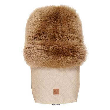 Kaiser Premium voetenzak schapenvacht cappuccino antraciet
