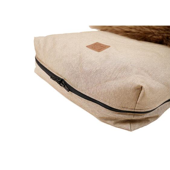 Premium voetenzak schapenvacht cappuccino beige