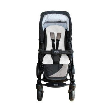 Heitmann Felle Lamsvacht buggy / autostoel grijs